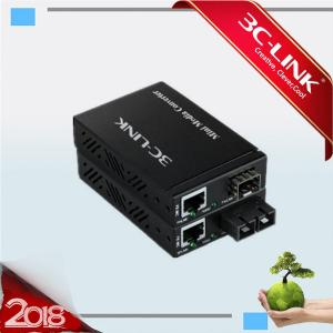 China 120km Robust Dual Fiber Optic Media Converter /Ethernet Media Converter Max support 12slots on sale