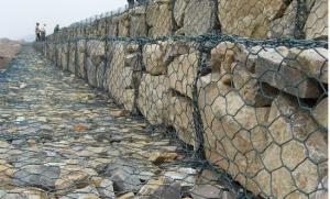 China Galvanized Gabion Rock / Stone Cages For Retaining Walls Construction Hesco Barrier on sale