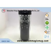 China Double Wall Eco Friendly Travel Mugs , Plastic Coffee Cups With Lids 350ml 12oz on sale
