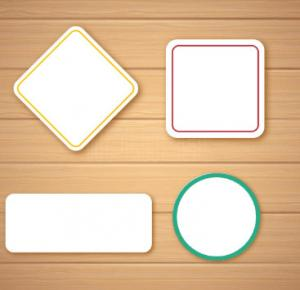 China Self Adhesive Blank Sticker Labels , Customized Blank Mailing Address Labels on sale