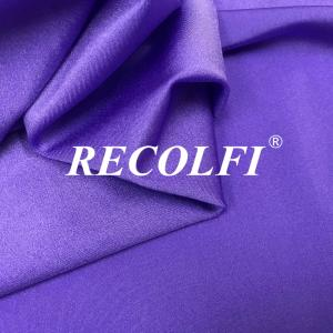 China Sweatsuits Brilliant Purple Recycled Lycra Fabric Good Moisture Wicking Performance on sale