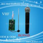 China JK006B Amplifier karaoke VHF wireless micphone module  with handheld microphone wholesale