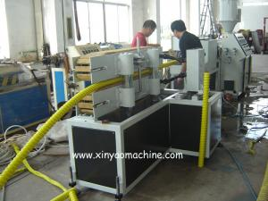 China PE / HDPE Carbon Spiral Plastic Corrugated Pipe Extrusion Line on sale