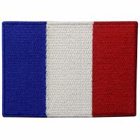 China France Embroidery Iron On Flag Patches Washable Custom Cloth Patches on sale