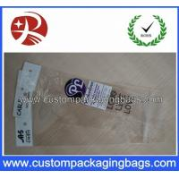 Eco-friendly Custom Packaging Bag Plastic OPP Pringed / Clear with Header