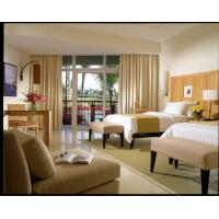China Modern Ash Wood Veneer Hotel Furniture Set With Wood Bed Bench on sale