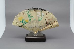 China Memory  Metal Folding Fan , Custom  Stainless Steel Hand Fan  With Chinese Opera Printing on sale