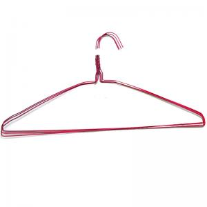 China Q195 20.5cm Dry Cleaning Powder Coated Wire Suit Hanger on sale