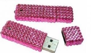 China high speed crystal diamond USB gadget usb flash drive 128MB - 32GB  on sale