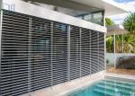 Customized Aluminum Louver Window Robust Construction Vinyl Window Shutters
