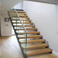 Double U Channel Stringer Modern Straight Staircase Made in China