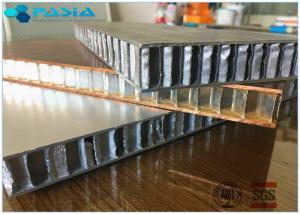 China Fire Proof Honeycomb Wall Panels , Lightweight Honeycomb Panels 1x1 M2 Size on sale