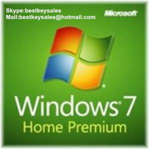 Quality Microsoft Windows 7 Home Prem OEM KEY, Original online activation key code for sale