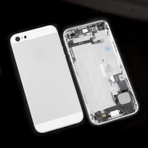 China Sliver Full Back Cover Housing with Middle Frame assembly for iPhone 5 Replacement Parts with Flex Cable on sale