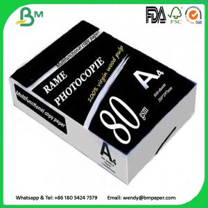 China Multipurpose Double A4 Copy 80 gsm / White A4 Copy Paper a4 paper 70g 80g on sale