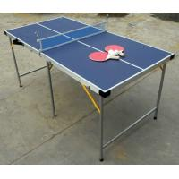 5FT Folding Indoor Table Tennis Table , Easy Carrying Portable Ping Pong Table