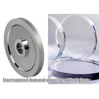 Electroplated Glass Grinding Wheels , Optical Glass Edging Use Abrasive Grinding Disc