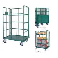 Logistic Material Handling Galvanized Steel Trolley for Warehouse