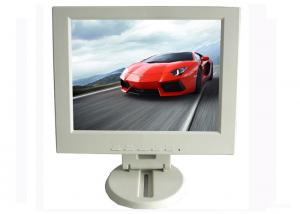 China White H160 V130 Car TFT LCD Monitor 12 Inch OSD With DVI Input on sale