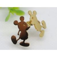 Cute gold Mickey Mouse stainless steel stud earrings 1320807, OEM / ODM welcomed