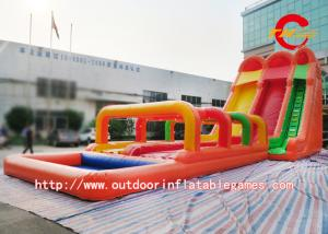 China Funny Giant Inflatable Water Slide Inflatable Jumping House For Kids / Adults on sale