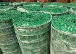 Green PVC Coated Welded Wire Mesh Panels / Plain Weave Mesh For Railings