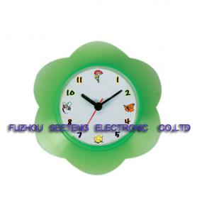 China flower shap desk alarm clock with colorful material and lovely customized dial for children on sale