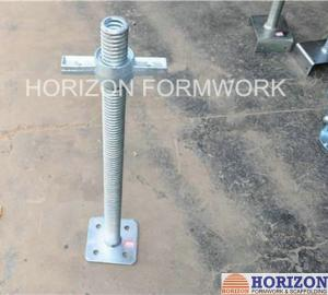 China Swivel Base Plate Jack ACME Trapezoidal Thread For Cuplock Scaffold Systems on sale