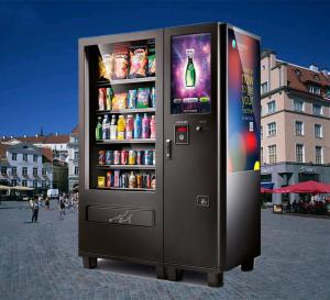 China Cold Water Snack Food Vending Machines Kiosk With Coin Bill Credit Card Payment on sale