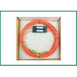 China Multimode Dual Window 1x2 CATV FTTH Fiber Optic Splitter LC SC FC ST Connector on sale
