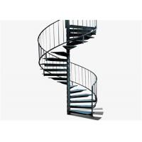 Classical sprial staircase with stainless steel railing design