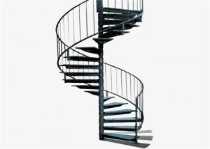 China Classical sprial staircase with stainless steel railing design on sale