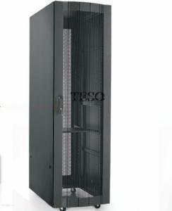 China 18U Vented Server Rack Cabinet 19inch Vertical , High Grade Steel on sale
