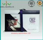 Professional OEM/ODM Custom Design With Ribbon Closure Decorate Food Packaging Box For Cake