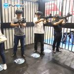 9D VR Arcade Machine 4 Player VR Shooting Game Simulator For Kids 7 Years Old +