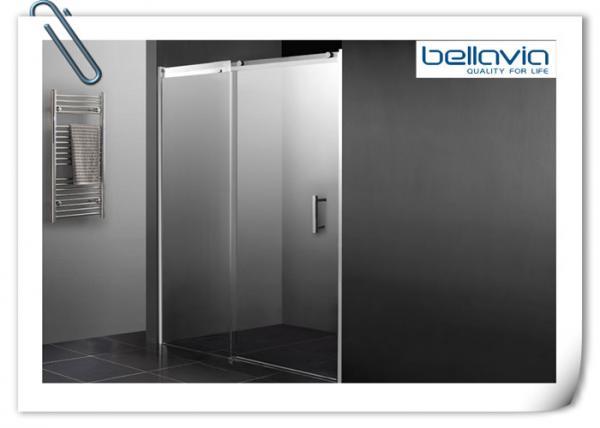 Bathroom Sliding Glass Shower Doors Semi Frameless With Double Chrome Rollers Images
