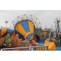China Mini Tornado Water Slide For Aqua Park , Customized Color Fiberglass Kids Playground Slide on sale