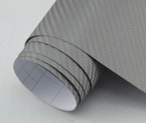 China Channel Bubble Free 3D Carbon Fiber Vinyl Film, Grey Carbon Fiber Film For Cars on sale