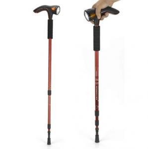 China multi-function walking stick,Lighting & radio sticks,Aluminum telescopic rod stick on sale