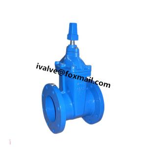 China 4 Inch Flanged Gate Valve Resilient Wedge Gate Valve on sale