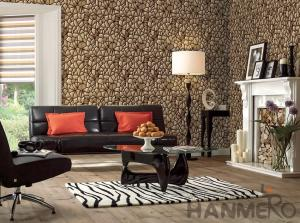 China 3D Stone Textured PVC Korea Design Wallpaper 1.06M for Home Office Decoration on sale