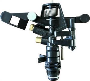 China Watering Rotate Orbit Plastic Impact Sprinkler 3/4'' Black Dubble Nozzle on sale