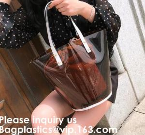 China Teen Fashion Clear Plastic Pvc Tote Bag For Girls, Transparent Pvc Tote Bag,Clear PVC Bag Hologram Bag EVA Bag Cosmetic on sale