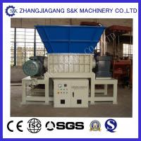 China Rubber Tire Waste Recycling Equipment Double Shaft Shredder CE / ISO on sale