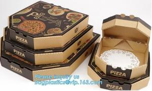 China Wholesale Custom Printed Corrugated Cardboard Recycle Paper Pizza Box Manufacturer,Foldable Flat Packing Blank Craft Pac on sale