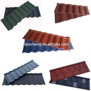 China Red Color Stone Coated Metal Roofing Tiles / Stone Coated Steel Roofing Tiles on sale