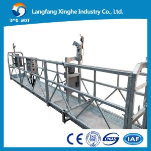China Roof / Chimney cleaning cradle lifting , mast climbing gondola , sky climber suspended scaffolding , zlp platform on sale