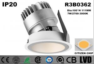China 7W Aluminum White CITIZEN Dimmable Led Downlights With Good Lighting Effect on sale
