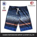 Men's 100% Polyester Short colour strip printed Beach shorts board Shorts