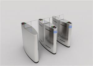 China DC 24V Sliding Speed Gate Turnstile Biometric Security System With LED Signs on sale